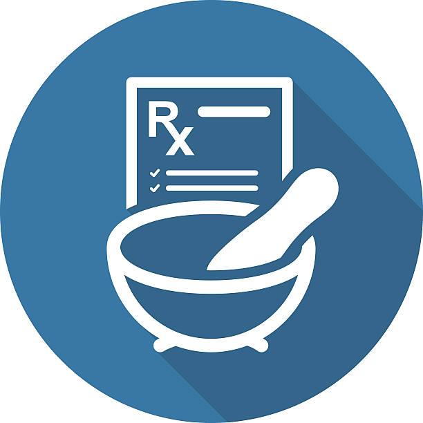 illustrazioni stock, clip art, cartoni animati e icone di tendenza di farmacia medicina icona. flat design. - dose