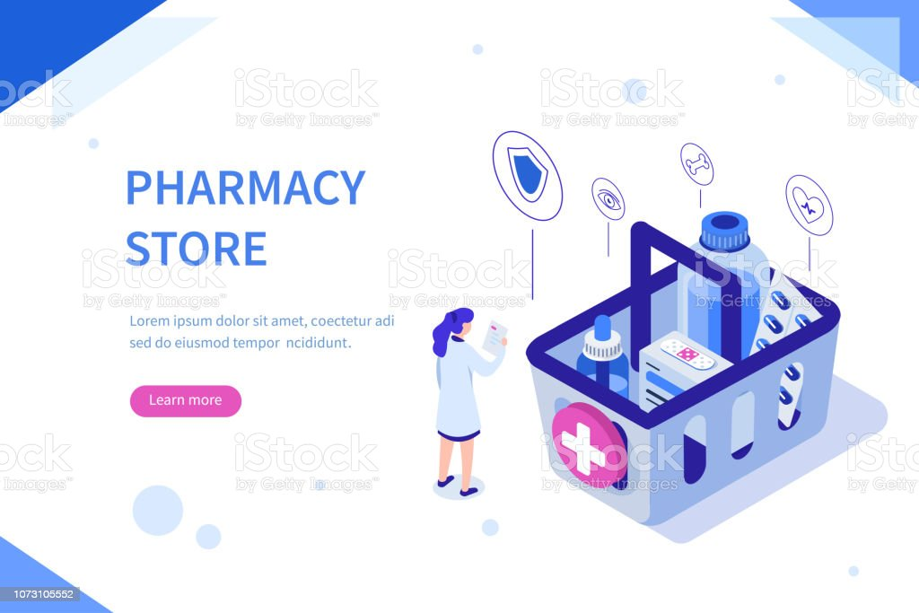 pharmacy store - arte vettoriale royalty-free di Accudire