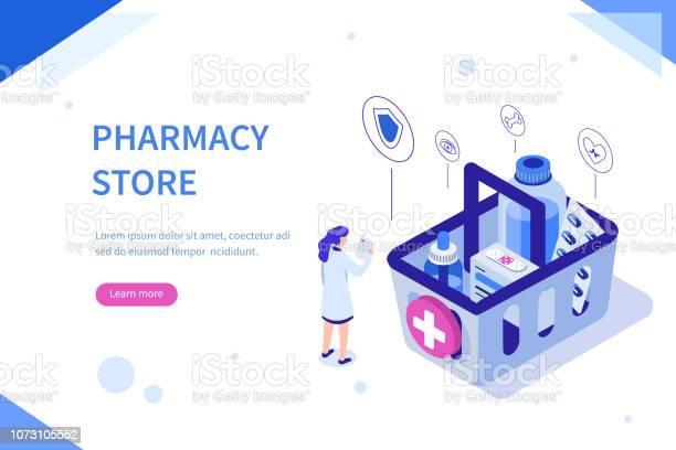 Pharmacy Store - Arte vetorial de stock e mais imagens de Alimentação Saudável