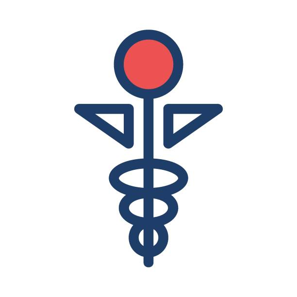 Royalty Free Medical Symbol With Snake Clip Art Vector Images