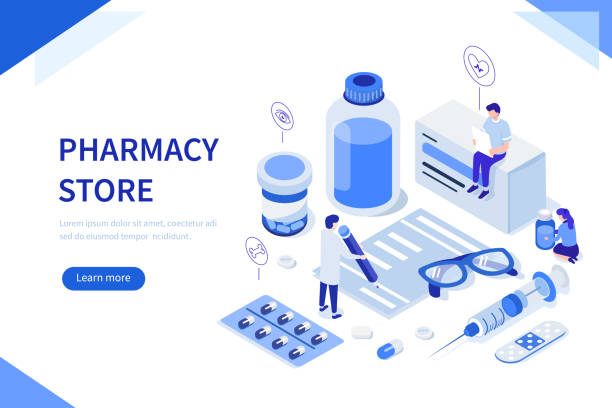 illustrazioni stock, clip art, cartoni animati e icone di tendenza di pharmacy - antidolorifico