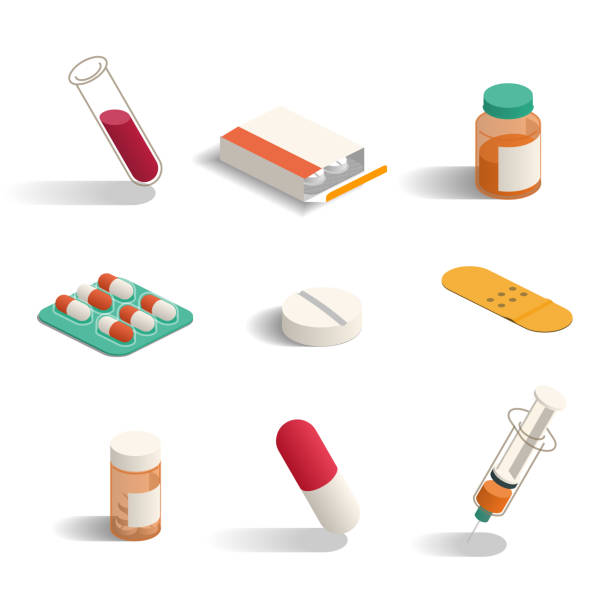 pharmacy medicine icons medecin stock illustrations