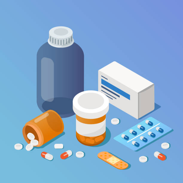 Pharmacy Pharmacy concept. Modern 3d isometry image. Flat style  isometric  vector illustration. cure stock illustrations
