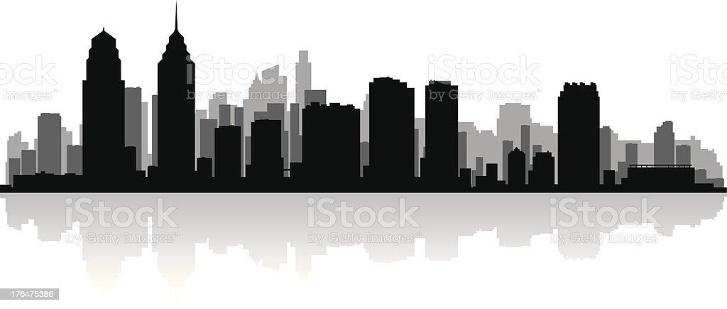 philadelphia city skyline silhouette stock vektor art und mehr bilder von  architektur - istock  istock