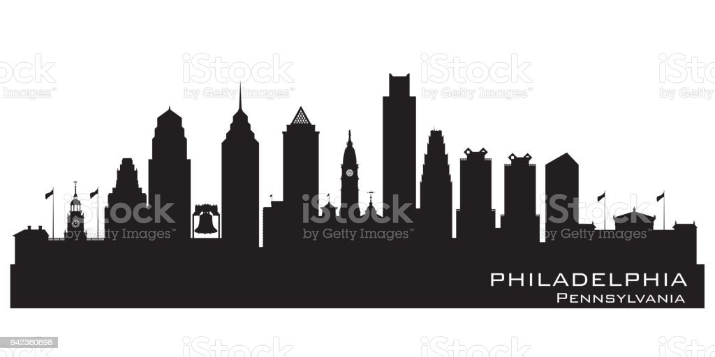 philadelphia pennsylvania stadt skyline silhouette stock vektor art und  mehr bilder von architektur - istock  istock