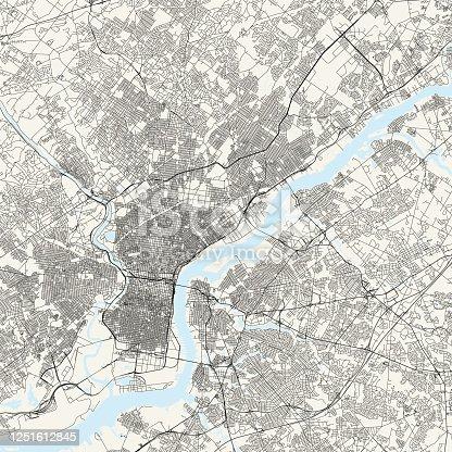 istock Philadelphia, Pennsylvania Vector Map 1251612845