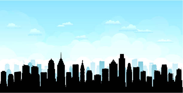 philadelphia (all buildings are complete and moveable) - philadelphia skyline stock illustrations, clip art, cartoons, & icons