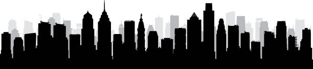 Philadelphia (All Buildings Are Complete and Moveable) vector art illustration