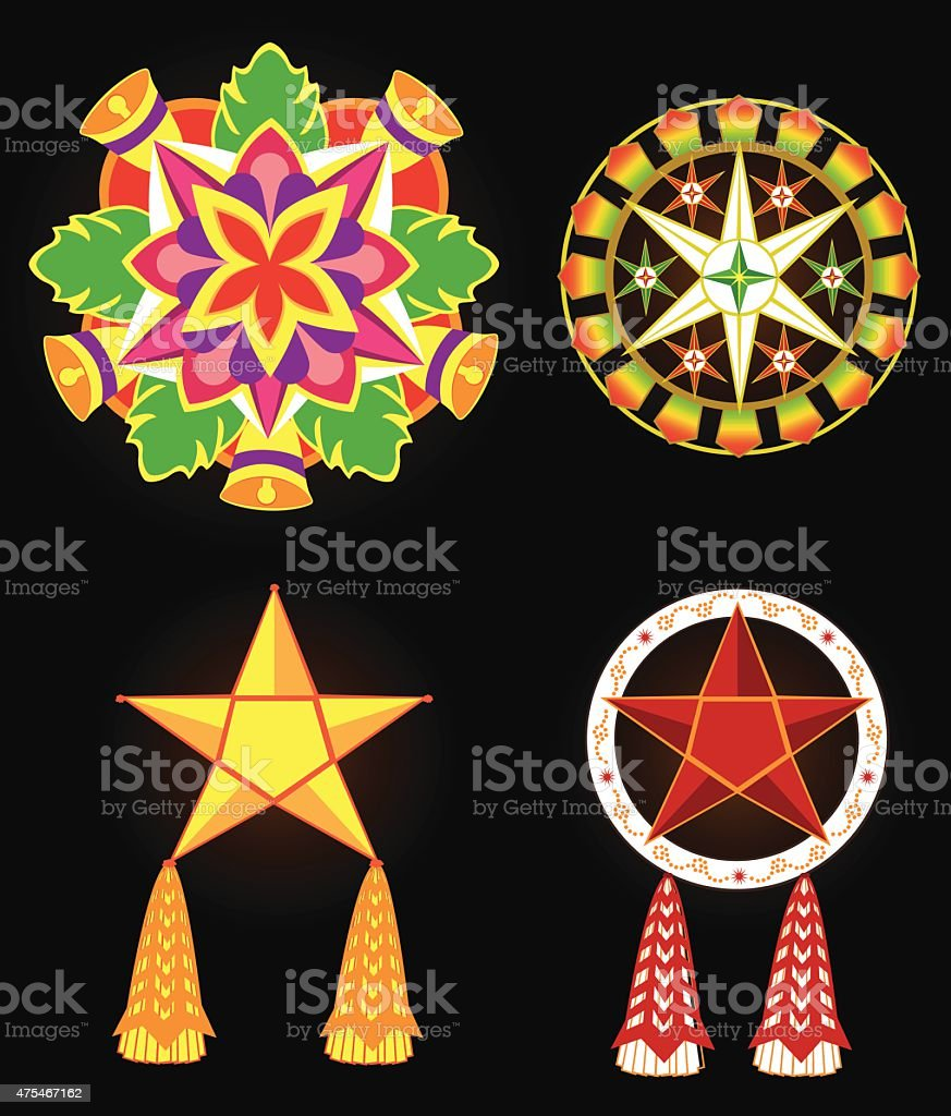 Philippine Commercial Christmas Lantern Decorations Stock