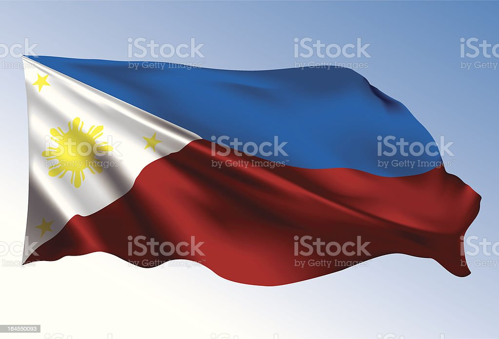 Philippine flag royalty-free stock vector art