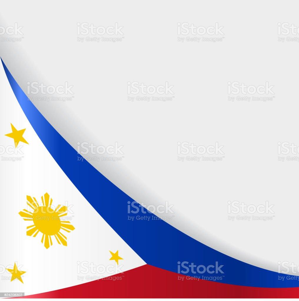 philippines flag background vector illustration stock