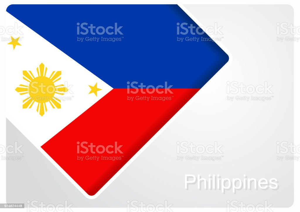 Philippines flag design background. Vector illustration. vector art illustration
