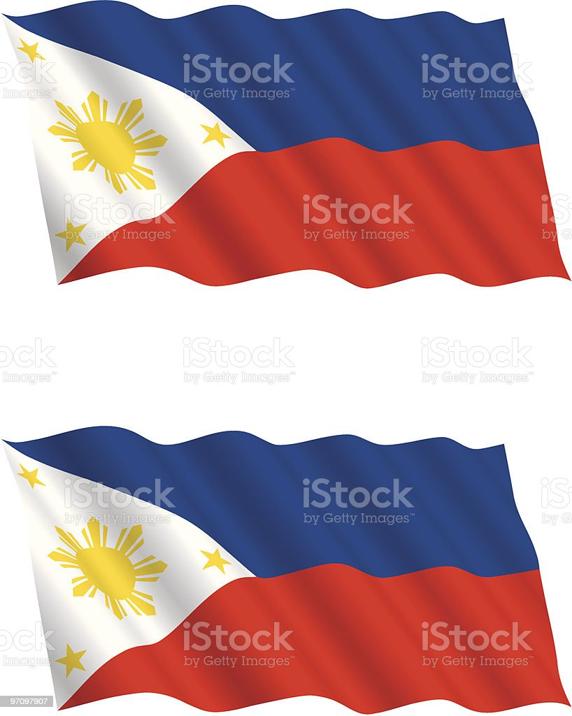 Philippines Flag Flying In The Wind Royalty Free Stock
