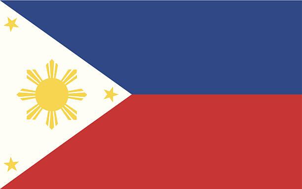 stockillustraties, clipart, cartoons en iconen met philippines flag illustration - filipijnen