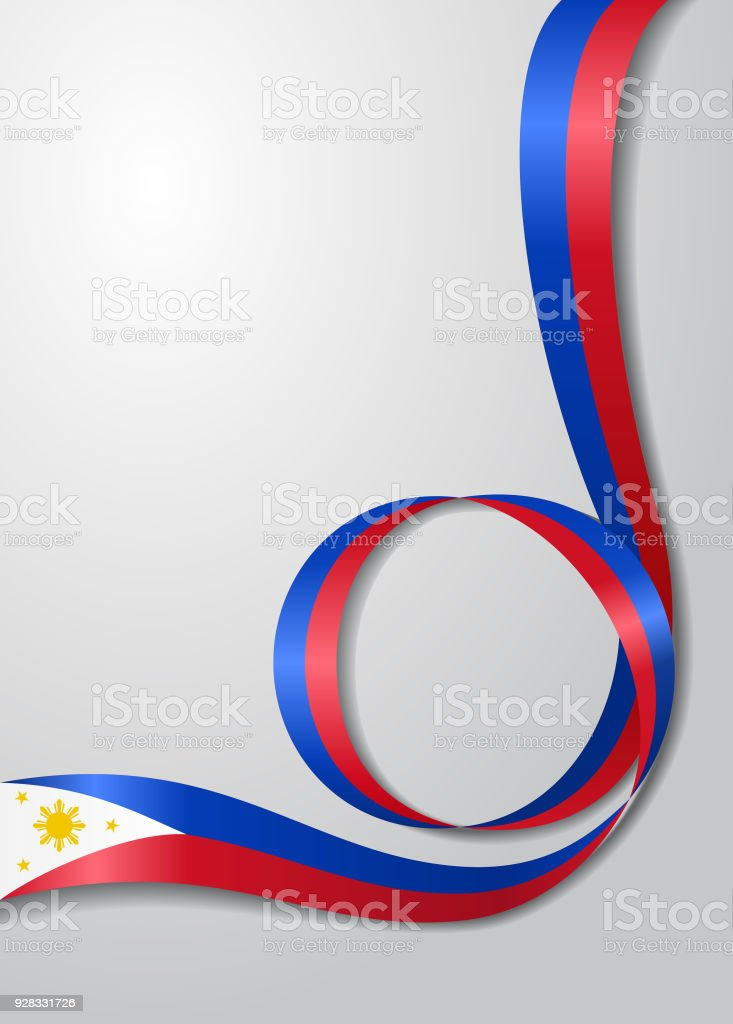 Philippines flag wavy background. Vector illustration. vector art illustration