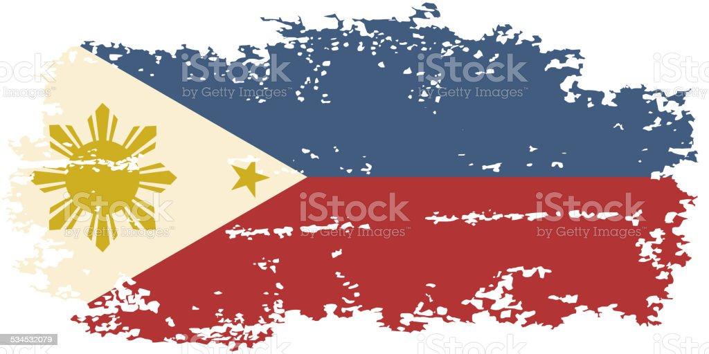 Philippines grunge flag. Vector illustration. vector art illustration