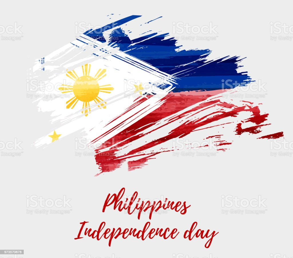 Philippines Independence day vector art illustration