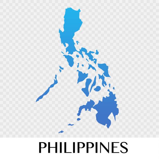 stockillustraties, clipart, cartoons en iconen met kaart van de filipijnen in asia continent afbeelding ontwerp - filipijnen