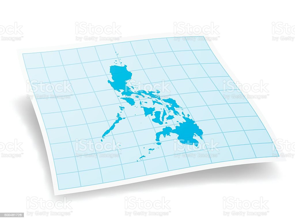 Philippines Map isolated on white Background vector art illustration