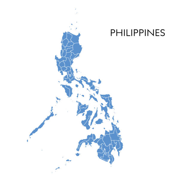 stockillustraties, clipart, cartoons en iconen met filipijnen kaart - filipijnen