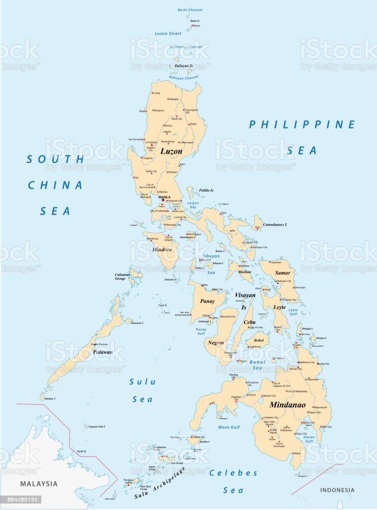 philippines map vector art illustration