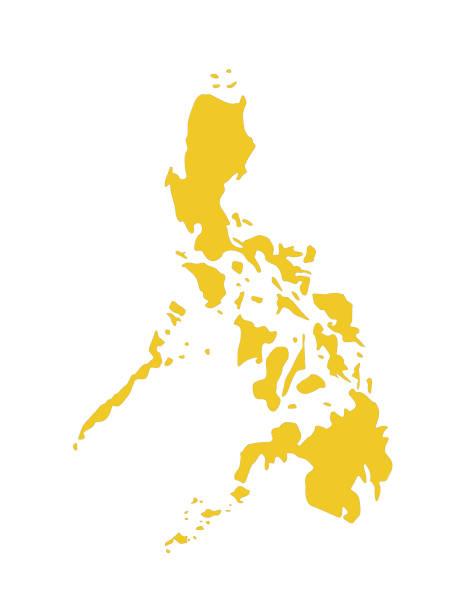 stockillustraties, clipart, cartoons en iconen met kaart van filipijnen - filipijnen