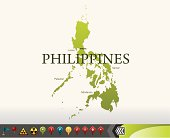 Philippines map with navigation icons