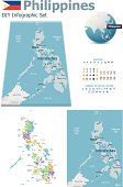 Philippines maps with markers