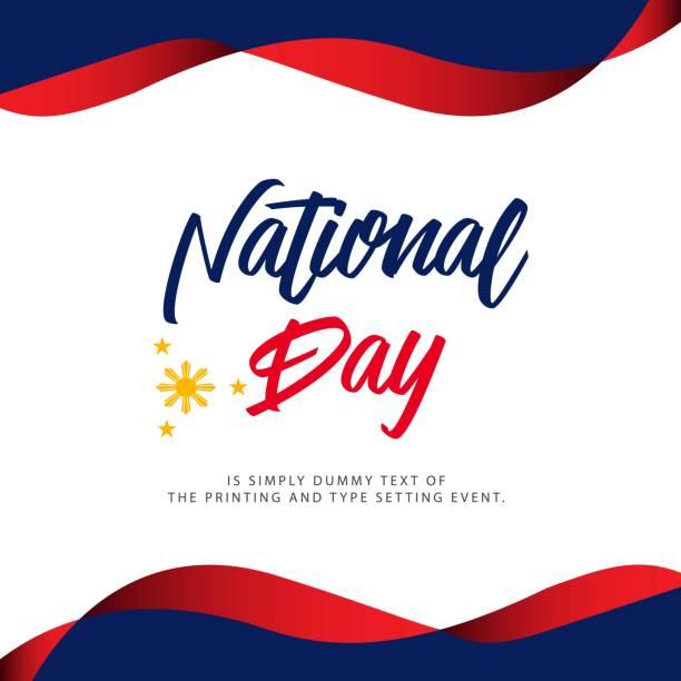 stockillustraties, clipart, cartoons en iconen met filippijnen nationale feestdag vectorillustratie template design - filipijnen