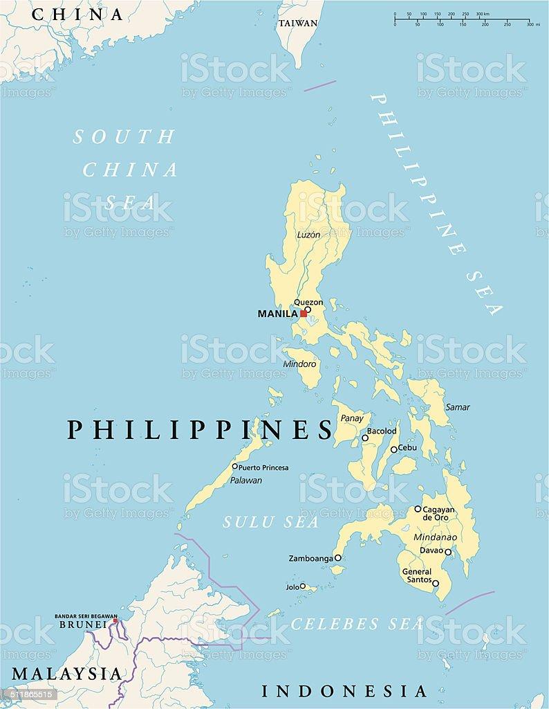 Karte Philippinen.Philippinen Politische Karte Stock Vektor Art Und Mehr Bilder Von