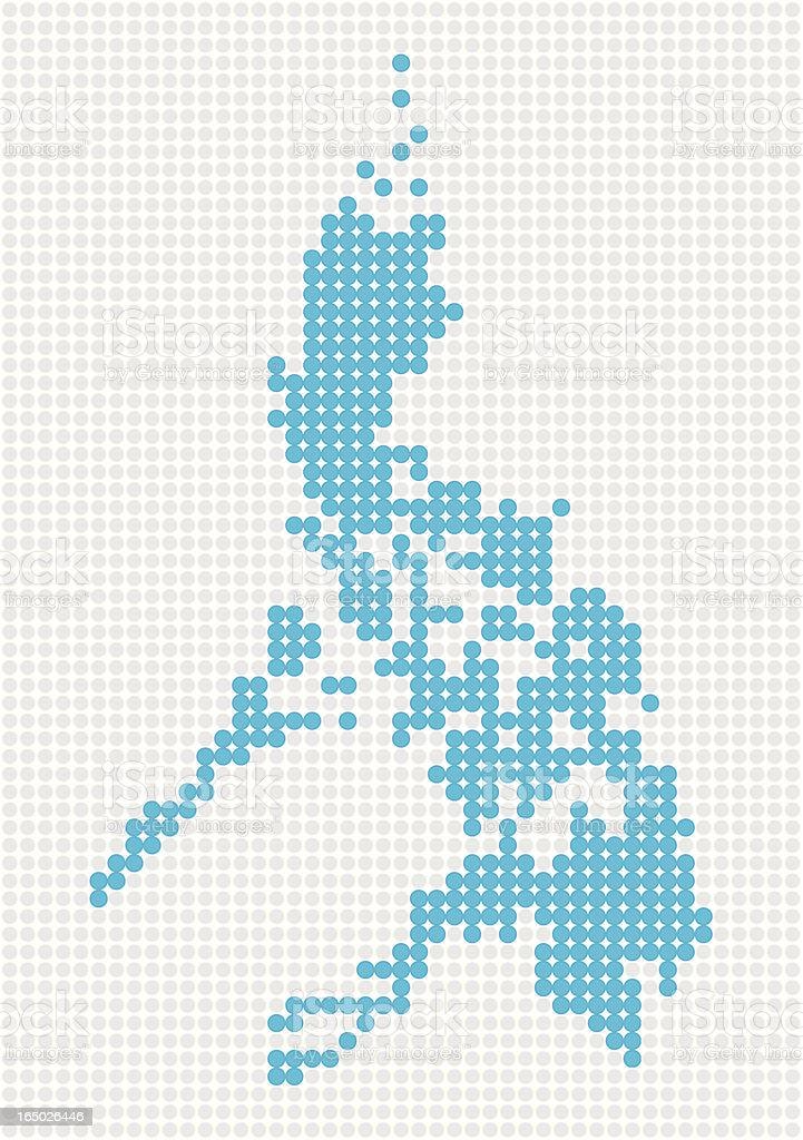 Philippines Pop Map ( Vector ) royalty-free stock vector art