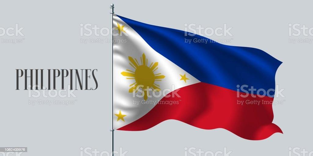 Philippines waving flag vector illustration vector art illustration