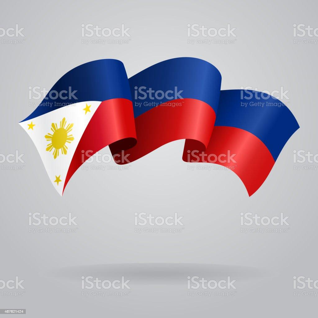 Philippines waving Flag. Vector illustration vector art illustration