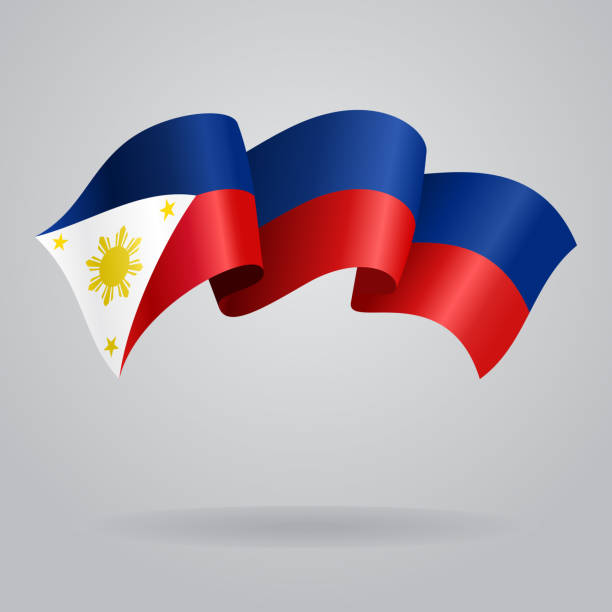 Background Of Philippines Waving Flag Clip Art Vector Images Illustrations