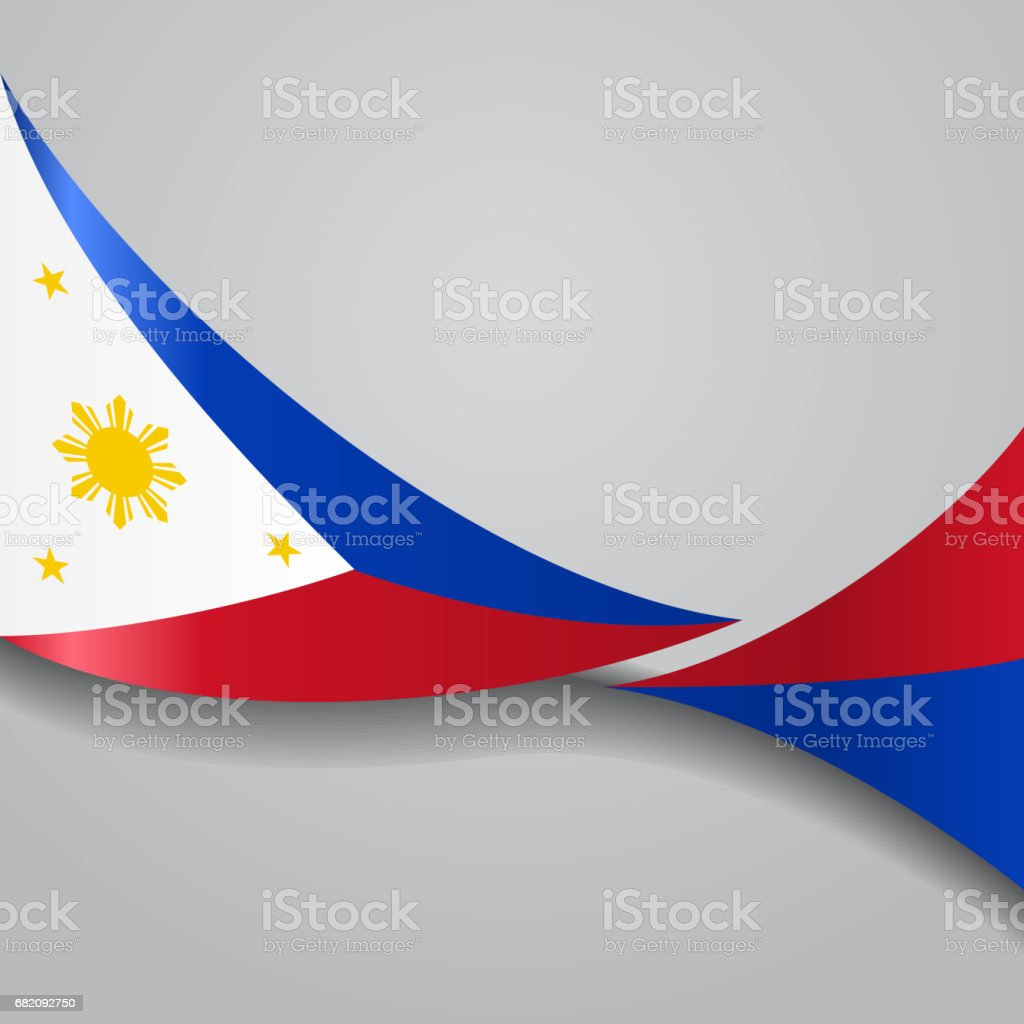 Philippines wavy flag. Vector illustration. vector art illustration