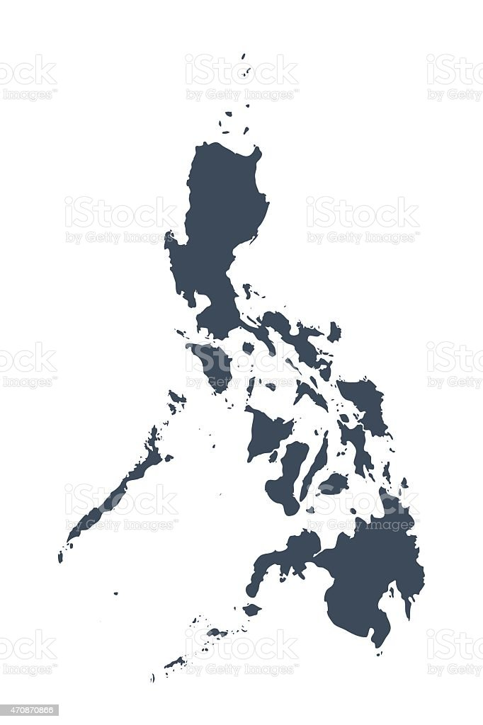 Philippinen Land-Karte – Vektorgrafik