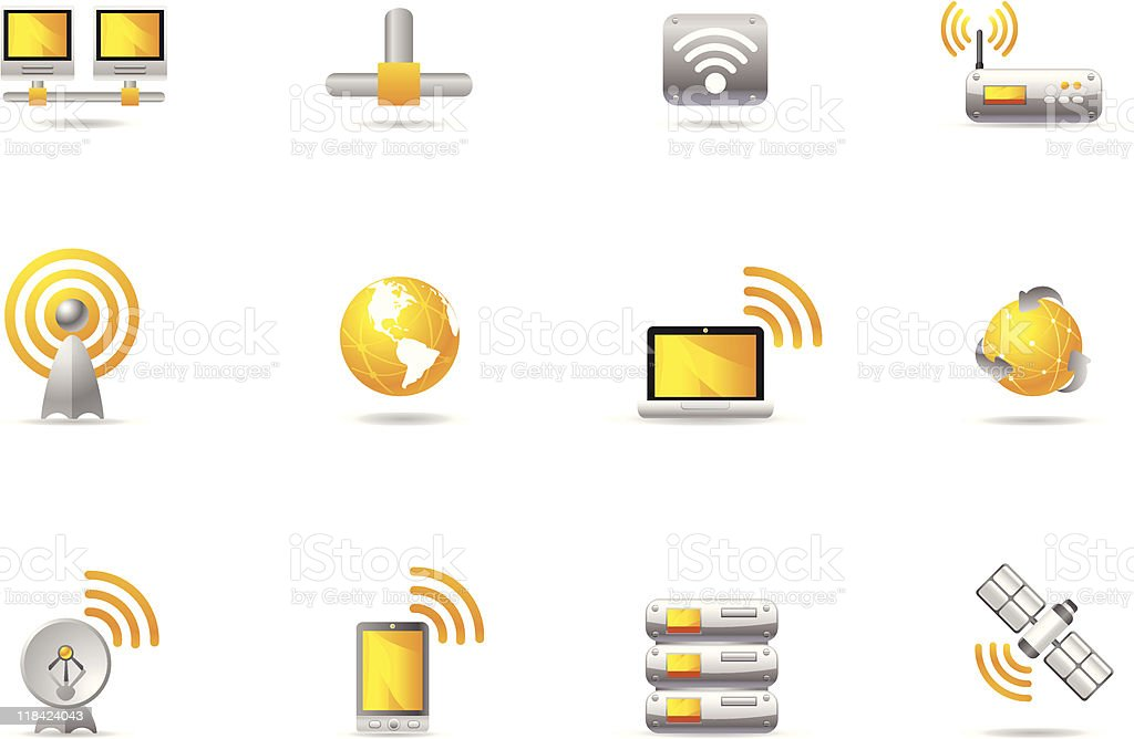 Philos icons - set 12 | WIreless Communication & Networking royalty-free stock vector art