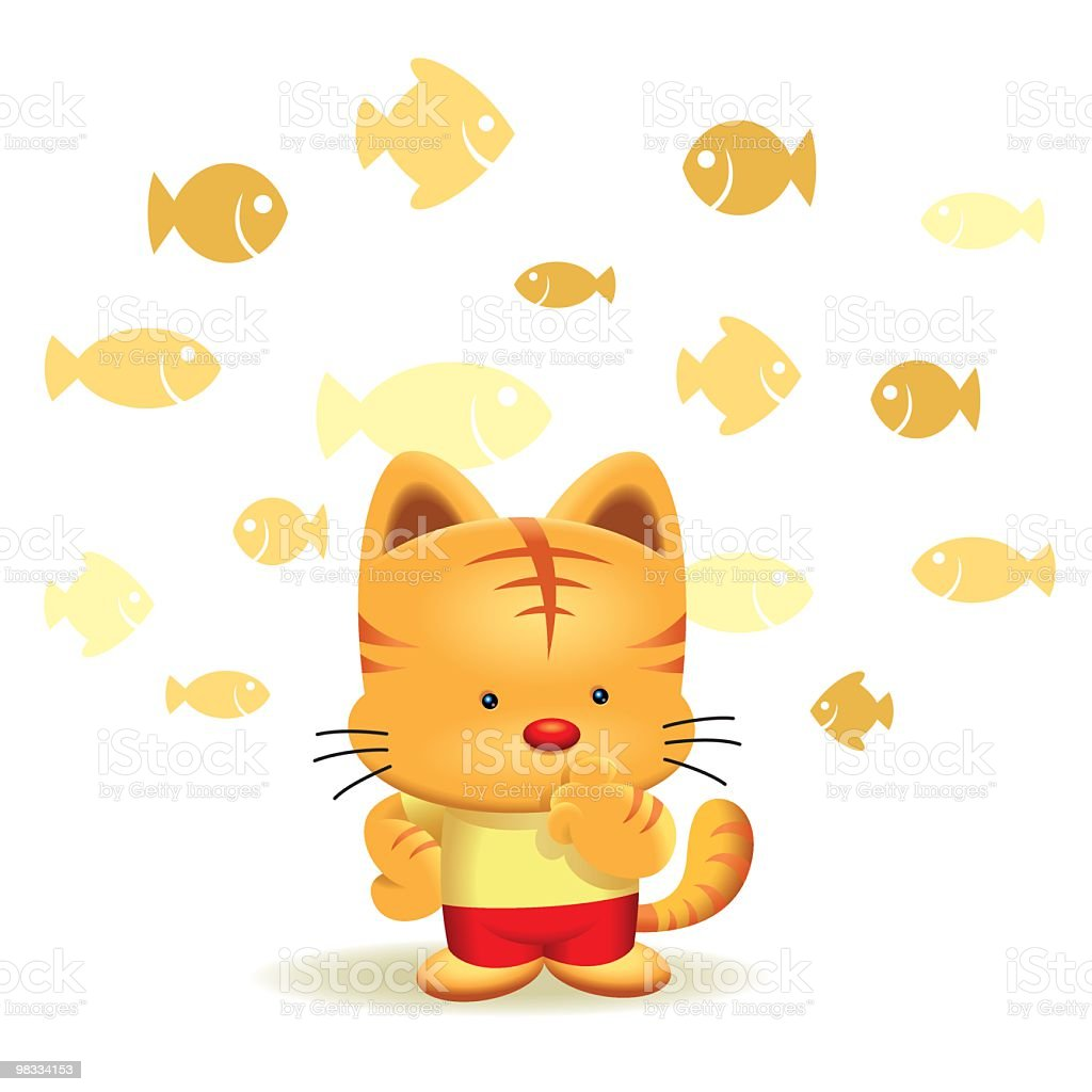 Philosophy Cat What To Eat For Dinner royalty-free philosophy cat what to eat for dinner stock vector art & more images of animal