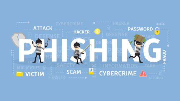 Phishing concept illustration. Phishing concept illustration. Idea of cyber crime and fraud. phishing stock illustrations