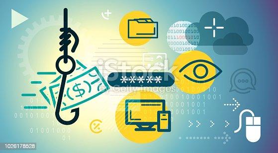 Phishing Fraud Abstract - Illustration as EPS 10 File
