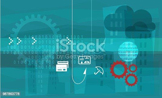 Phishing Fraud - Illustration as EPS 10 File