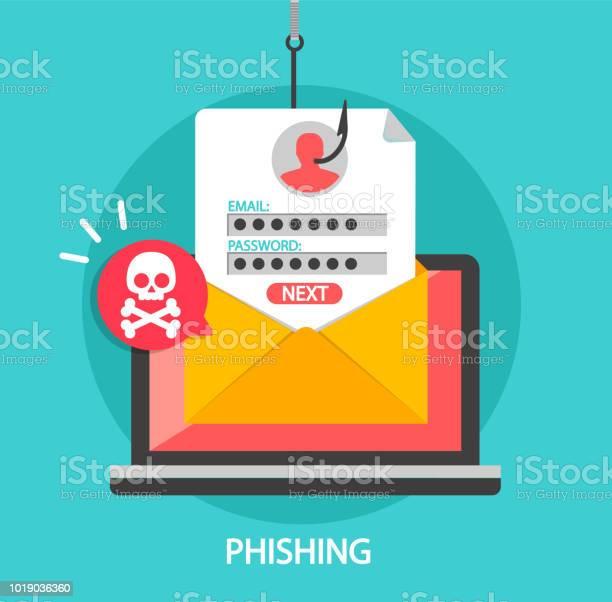 Phishing Login And Password On Fishing Hook - Immagini vettoriali stock e altre immagini di Accesso al sistema