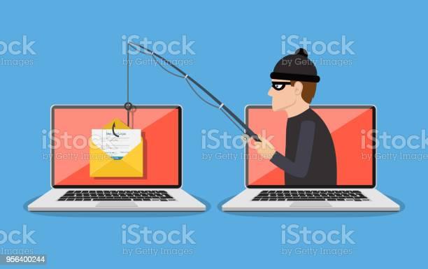 Phishing Scam Hacker Attack - Immagini vettoriali stock e altre immagini di Accessibilità