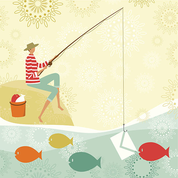 Phishing vector art illustration