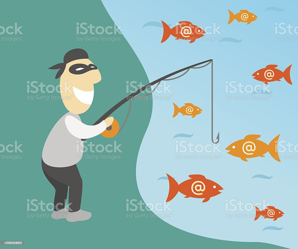 Phishing vector art illustration
