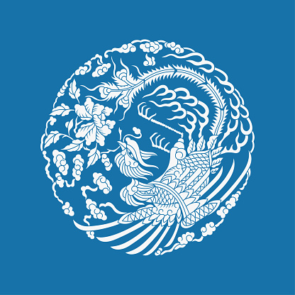 Phoenix and Peony(Chinese traditional paper-cut art)