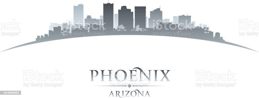 Phoenix Arizona city skyline silhouette vector art illustration