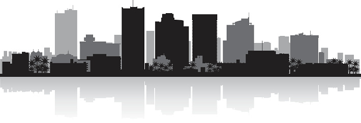 Phoenix Arizona city skyline silhouette