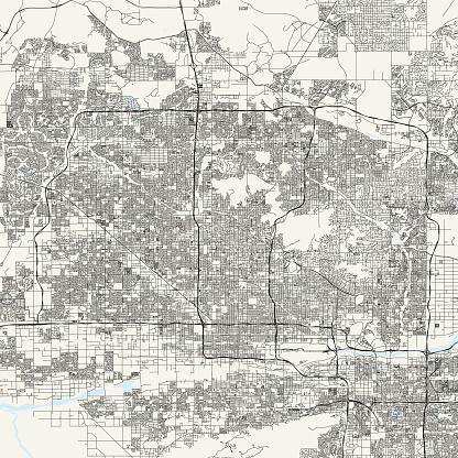 Phoenix, Arizona Vector Map