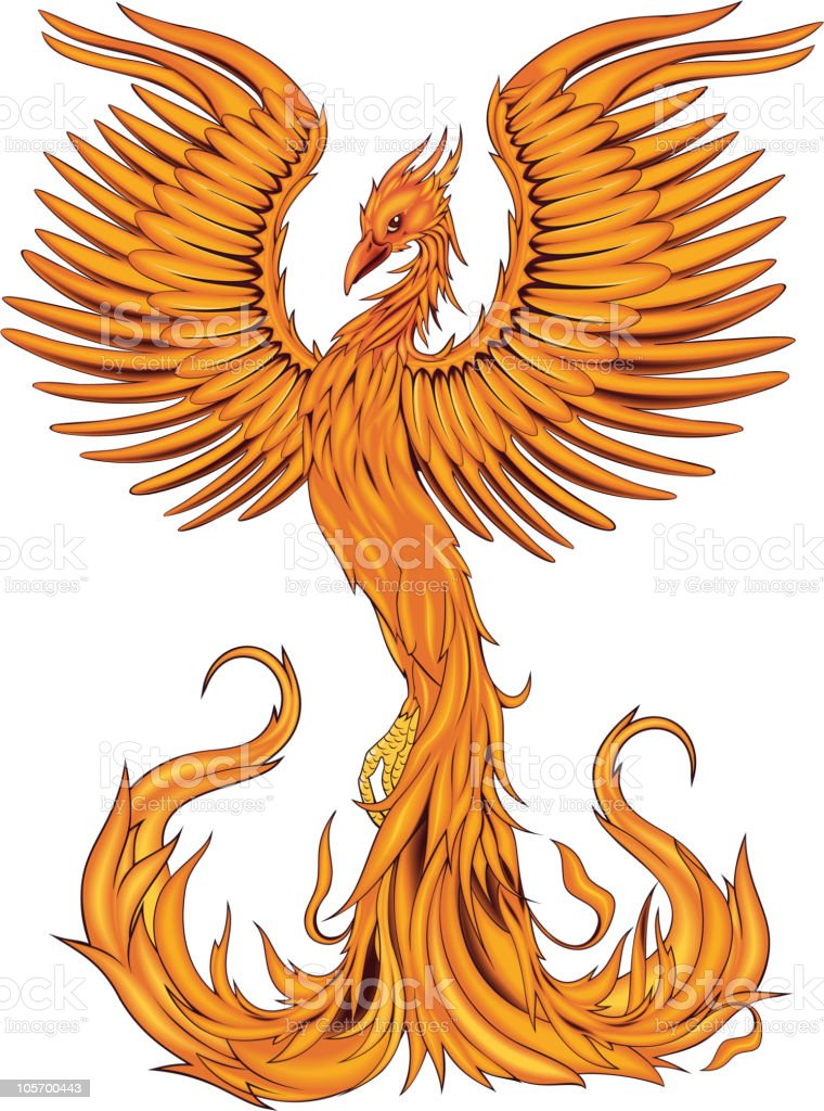 Phoenix bird royalty-free stock vector art